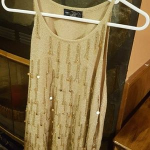 Womans dressy tank top and cover